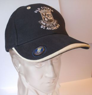 Golf Gift Navy Cap Hat St Andrews with Ball Marker