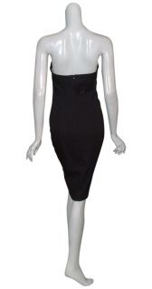Angel Sanchez Classic Black Fitted Cocktail Eve Dress 8 New