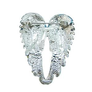 luxury angel wing brooch pin blue swarovski crystal