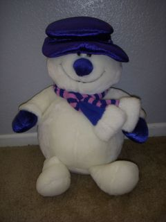 Toys R US Animal Alley Plush Snowman with Blue Hat Scarf Soft Stuffed