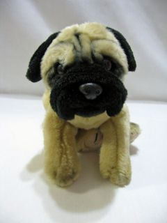 Animal Alley Pug Dog Puppy 12 Plush Black Tan Stuffed Toy Soft