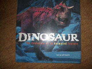 DINOSAUR THE EVOLUTION OF AN ANIMATED FILM Walt Disney MOVIE BOOK