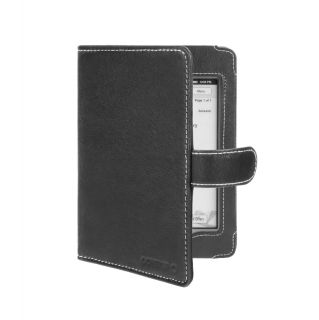 Kindle Touch Wi Fi 3G Black Nappa Leather Book Style Cover Case