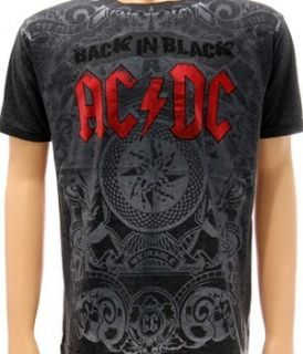 AC DC Angus Young rock roll Black Ice T shirt Sz M Back In Black
