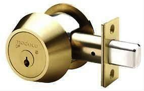 medeco maxum single cylinder deadbolt brass new