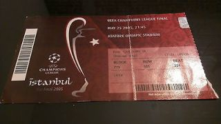 Rare Liverpool AC Milan Final Istanbul 2005 Champions League Ticket