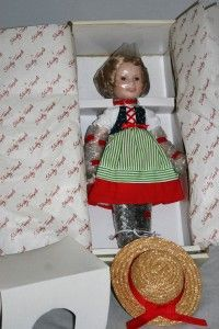 14 Danbury Mint Shirley Temple Heidi Dolls of The Siver Screen New in