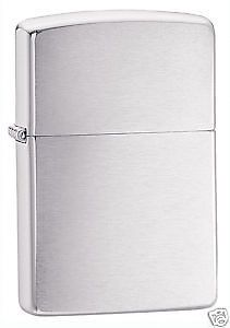 Zippo Brushed Chrome Lighter, Full Size, Low Shipping, 200