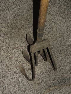Antique Farm Garden Hand Cultivator 5 Prong Norcross 5S Metal