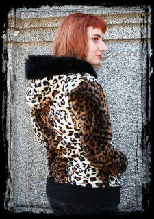 COLORS Zebra Leopard Cheetah Hoodie with Black Faux Fur HOOD BAND
