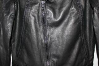 william rast for target men s black leather jacket nwt