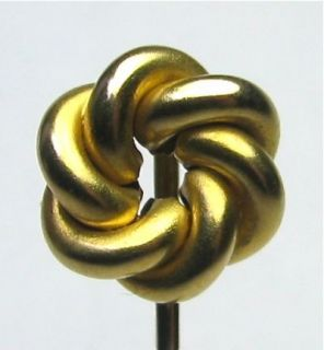 12 03 RR Antique Victorian 14k Gold Love Lovers Knot Stick Pin