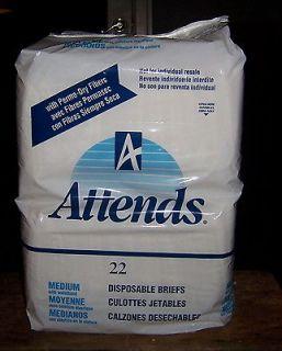 Medium Waistband 6 Tape Retro Plastic Adult Diapers Briefs 22 Ct