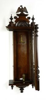 Antique German Wall Clock at 1880 1900