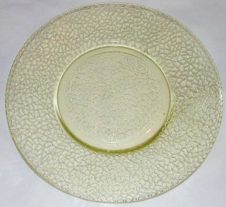 Vintage Yellow Federal Depression Glass Crackle Glass Plate 7