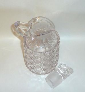 Stunning Antique Mold Blown 7 Pattern Glass Oil Vinegar Cruet w