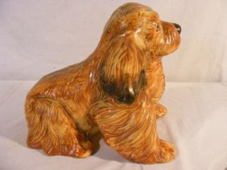RARE ANTIQUE WELLER ART POTTERY SEATED TERRIER DOG   13 LONG
