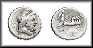 Antonia 1 JUPITER / VICTORY 4 HORSE CHARIOT ROMAN Republic Silver