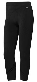 Adidas AdiPure Womens Black ClimaLite 3/4 Running Tights Leggings