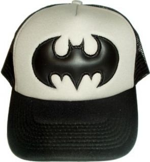 Batman Logo Embroidered Cap Joker Black & Grey Hat Keaton Bale Robin