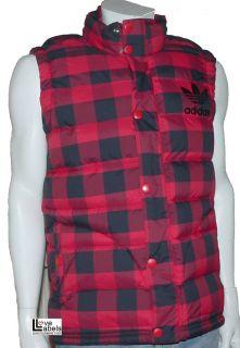 Adidas Originals AC Mens Check Bodywarmer Gilet Padded Jacket Vest