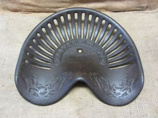 Vintage Walter Wood Cast Iron Tractor Seat Antique Farm Tools Iron