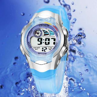 OHSEN Digital Alarm Clock Quartz Child Water Resistant Sport Watches