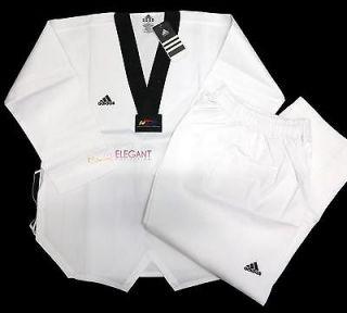 Adidas WTF World Taekwondo Federation ADI CLUB ADITCB01 Uniform (Black
