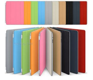 HOT For Apple iPad 2 2nd Slim PU Leather Stand w/Magnetic Smart Cover