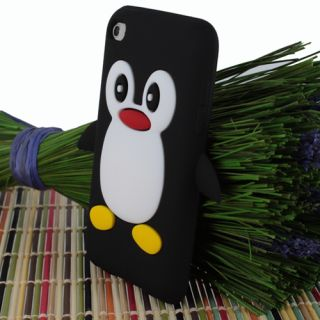 Penguin Silicone Soft Case Cover Skin For Apple iPod Touch 4G 4th Gen