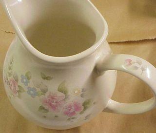 PFALTZGRAFF TEA ROSE OVERSIZED large PITCHER 64 oz  Still has orig