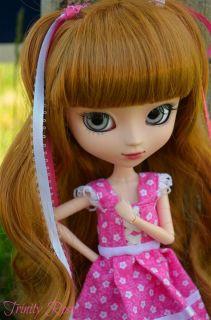 Pullip Doll Full Custom Trinity Rose OOAK Pink Lolita Realistic Aqua