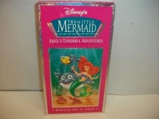 Little Mermaid ArieSL Undersea Adventures Whale of A Tale VHS Kids