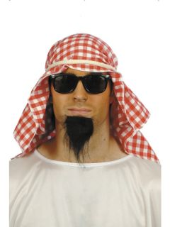 Adult Mens 3 Pce Arab Kit Headdress Smiffys Fancy Dress Costume