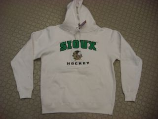 Und North Dakota Fighting Sioux Sweatshirt Hoody White Team Edition