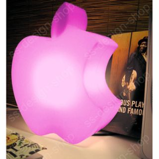 Pink Bitten Apple Computer Laptop Desk Lamp Funky Mac Deco Night Light