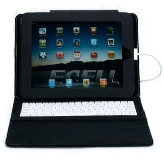 LEATHER CASE COVER AND STAND WITH BUILT IN KEYBOARD FOR APPLE iPAD