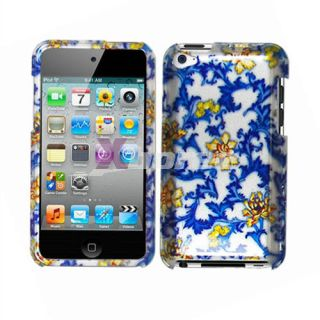 For Apple iPod Touch 4th Hard Case Blue China Glossy