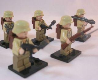 WWII Lego GERMAN ARMY Minifigure DAK INFANTRY Africa Korp ROMMEL