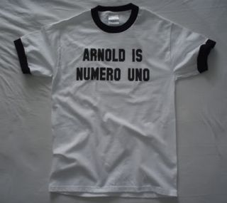 Arnold Is Numero Uno T Shirt Vtg Style Ringer Short Long Tall Mens