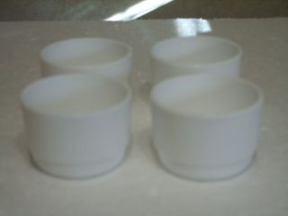 arcopal france set of 4 white custard cups time left