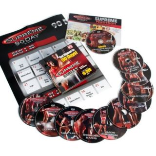 AS SEEN ON TV SUPREME 90 DAY BRAND 10 DVD SET GET THE FIRM INSANE ABS