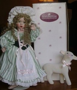 Ashton Drake Galleries 1993 Little Bo Peep Porcelain Doll w/ Sheep