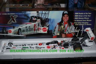 ASHLEY FORCE 2005 AUTOGRAPHED 1 16 MATTEL TOY STORE A FUEL DRAGSTER