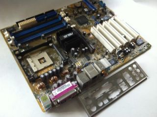 Asus P4P800 E Rev 1 02 Socket 478 Motherboard w Plate