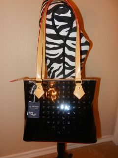 Arcadia Italian Designer Vernis Leather Tote Shoulder Bag Purse