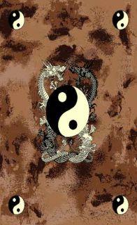 Novelty African Safari Japanese Dragon Symbole Design 5x8 Area Rug