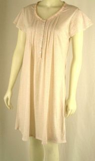 Aria Pink Night Dress Gown Nightgown $42 Tag SM LG