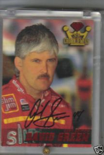 1995 Wheels Crown Jewel Auto Racing Card David Green