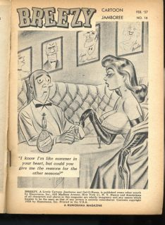 February 1957 BILL WARD Cartoons JENNIE LEE Arline Hunter PIN UPS